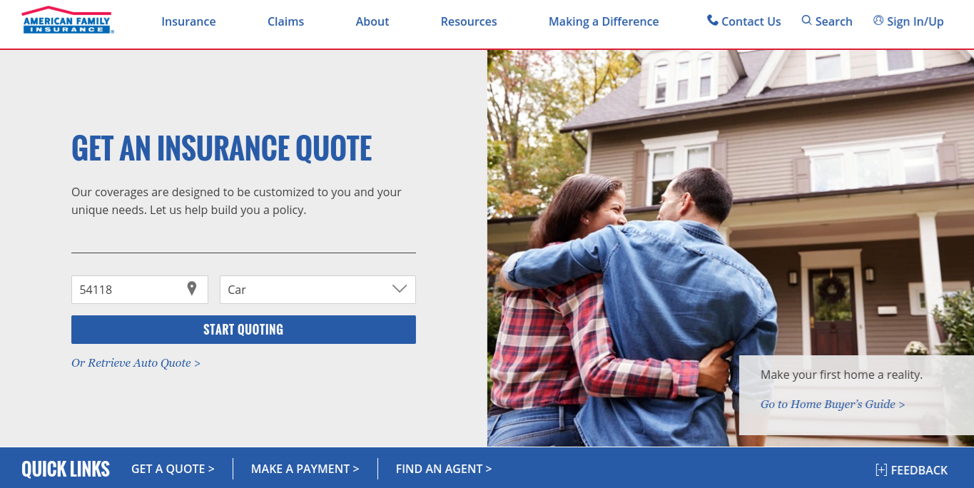 American Family Home Page